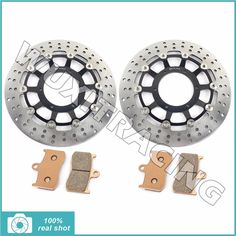 229.98$  Buy now - 1 Pair Motorcycle New Front Brake Discs Rotors Pads for KAWASAKI ZX9R ZX9 R NINJA ZX900E ZX 900 E 2002 2003 02-03  #buyininternet
