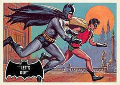 Topps Batman card: Let's Go by Norman Saunders