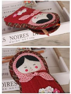 images attach c 10 110 392 Pencil Case Pouch, Operation Christmas Child, Matryoshka Doll, Pencil Bags, Patch Quilt, Quilted Bag, Kids Bags, Zipper Bags, Cute Dolls