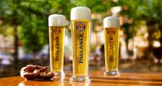 Gloriously golden blond, extremely elegant and full-bodies - #Paulaner Munich Premium Lager. biergartenfest.com
