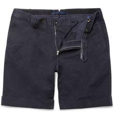 Slowear Incotex slim-fit linen-cotton shorts