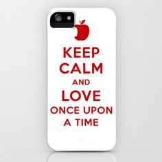 Keep+Calm+and+Love+Once+Upon+a+Time+iPhone+&+iPod+Case+by+lolia+-+$35.00