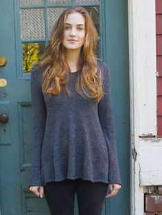 Graphite is a beautiful a-line pullover knit seamlessly in the round from the bottom up.  This free pattern is available exclusively as a print-friendly PDF file - it's easy to read and requires less paper when printed. To download the pattern, just click the PDF link above. Trouble getting the PDF? Make sure you've downloaded the latest version of the freeAdobe Reader software.