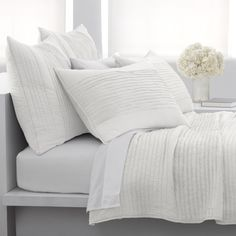 BED BATH & BEYOND - DKNY Haven Quilt - White, 100% Cotton - Bed Bath & Beyond