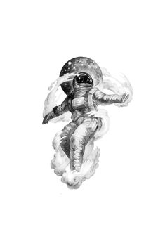 What a feeling Space Artwork, Space Drawings, Cool Art Drawings, Art Drawings Sketches, Tattoo Sketches, Tattoo Drawings, Astronaut Tattoo, Astronaut Drawing, Tattoo Sleeve Designs