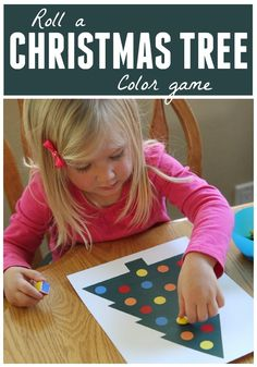 Toddler Approved!: Roll a Christmas Tree Color Game