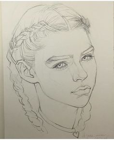 This looks a bit like me, girl with braids.