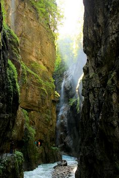 Partnach Gorge, Reintal valley, Germany