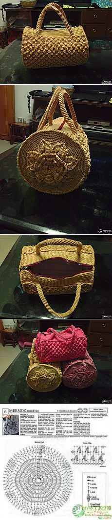 Barrel crochet bag pattern