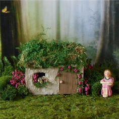 Irish Cottage Fairy House Fairy Garden by enchantedgardens on Etsy
