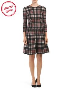 Made+In+Italy+Wool+Tartan+Plaid+Dress