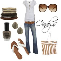 """Jeans and White T...Perfect"" by cindycook10 on Polyvore"