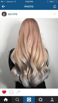 Tri color gold hair