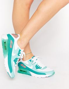Image 1 of Nike Air Max 90 Ultra BR Turquoise Trainers