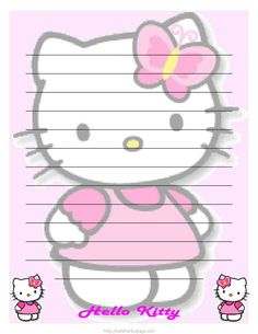 Free Printable Hello Kitty Stationary Kawaii Paper Style And More Free  Printable Not My Sugar Bits Owned
