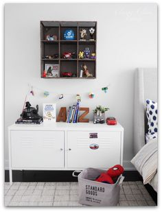 Big Boy Room Reveal | Boy's room | Kid's room | IKEA PS cabinet and CB2 metal wall shelf | Classy Glam Living
