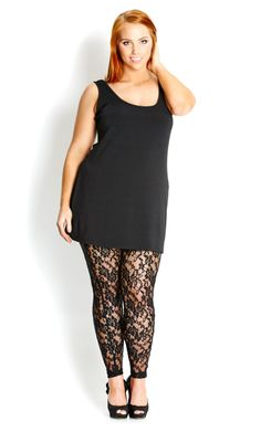 City Chic LACE LEGGING #citychic #citychiconline #newarrival #plussize #fashion