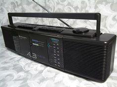 Sold Vtg SEIKO Instruments Inc AM / FM Stereo Dual Cassette Recorder Model WKC-9558