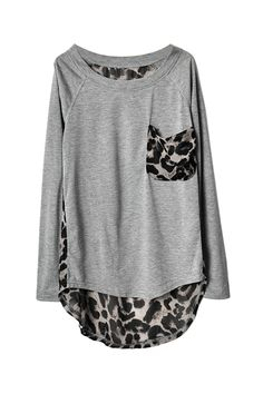 Leopard Print Detail Top  Too expensive for my budget but love it!