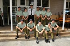 Members of the Rangitikei Ruapehu Cadet Unit with Area Commander Lieutenant Vince McDonald.