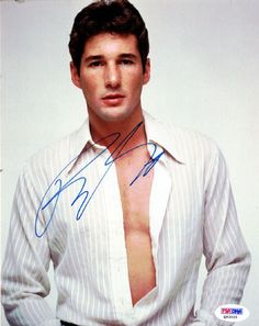 This is an 8x10 Photo that has been hand signed by Richard Gere. The autograph has been certified authentic by PSA/DNA and comes with their sticker and matching certificate.