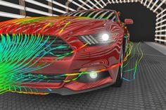 ConcettoMotors: Ford revela o trabalho de aerodinâmica por trás do novo Mustang  Acesse: www.concettomotors.blogspot.com.br
