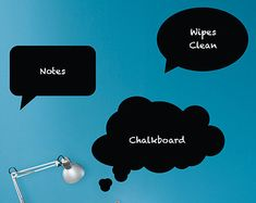 Thought Bubbles Chalkboard Wall Decals - Set of 3 Extra Large Speech Bubbles