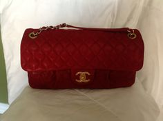 Chanel Sac Rabat In Rouge