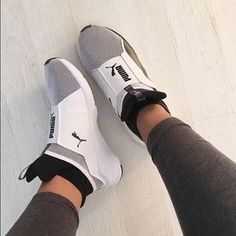 This pair of uniquely engineered sneakers designed with a textured fabric to help give it a totally elevated look while still keeping things comfy Pumas Shoes, Women's Shoes, Me Too Shoes, Shoe Boots, Shoes Sneakers, Puma Sneakers, Fall Shoes, Shoes Style, Summer Shoes