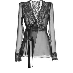 Dolce & Gabbana Silk Blend Chiffon Lace Wrap Blouse ($695) ❤ liked on Polyvore featuring tops, blouses, black, lace chiffon blouse, chiffon blouse, wrap style tops, lace chiffon top and lace trim blouse