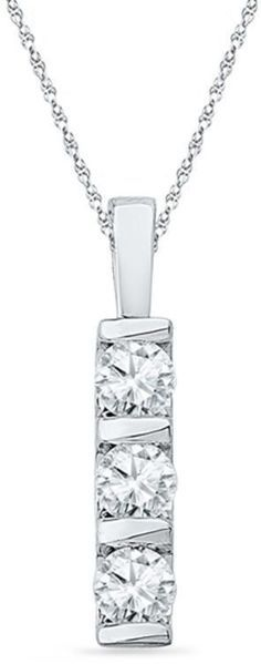 Image result for three stone pendant vertical