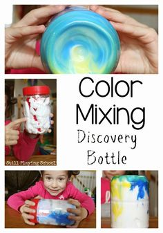 Still Playing School: Marble Color Mixing Discovery Bottle