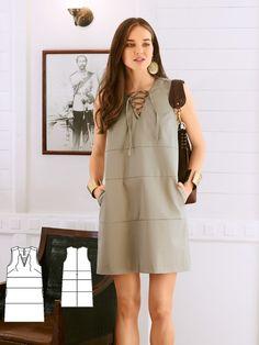 Safari Shift Dress 02/2017 #110A http://www.burdastyle.com/pattern_store/patterns/safari-shift-dress-022017?utm_source=burdastyle.com&utm_medium=referral&utm_campaign=bs-tta-bl-170123-BohemianDeluxe110A