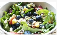This is one of my family's favorite healthy recipes. This summer salad is rich in fiber and includes seasonal fruits and vegetables. It's the perfect lunchtime health boost!