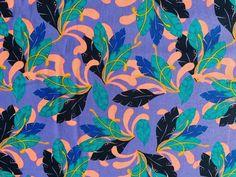 Jungle Leaf Print Nursery Cotton Fabric Decor Cushion Quilting Fabric Upholstery Jungle Flowers, Tropical Fabric, Jungle Nursery, Jungle Print, Quilting Fabric, Leaf Prints, Fabric Decor, Printing On Fabric, Cotton Fabric
