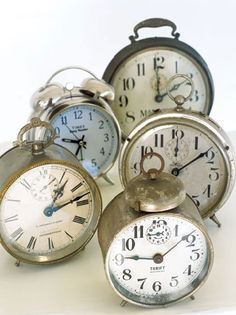 ''Alarm clocks'', but not when they ring, haha! I have a collection of alarm clocks in my house.