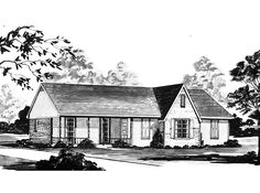 Eplans Country House Plan - Three Bedroom Country - 1400 Square Feet and 3 Bedrooms from Eplans - House Plan Code HWEPL61823