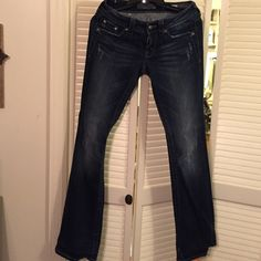Miss me Jeans worn twice Denim boot cut jeans with button back pockets Miss Me Jeans Boot Cut