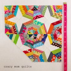 crazy mom quilts: mini spiderweb measurements
