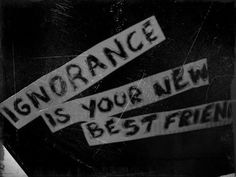 ignorance is your new best friend. - paramore, ignorance