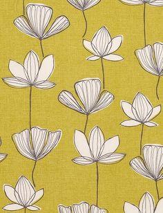 Gingko pattern, fabric, by John Lewis