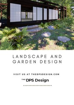 Japanese Forest Cabin Landscape Design. 3D Architecture Rendering for designers and homeowners, for new buildings and remodel projects. At The DPS Design we design AND make realistic architectural imagery for Gardens, Decks, and Terraces. #renderingarchitecture #architecturerendering #architecturevisualization #3Drendering #architecturedesign #landscapedesign #gardendesign