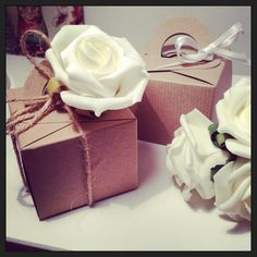 10 Vintage Style Wedding favour boxes Hairy by hopeandwilson, £4.00