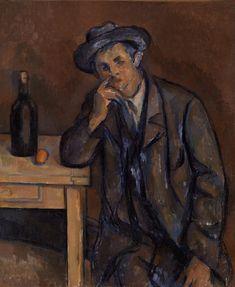 The Drinker (Le Buveur) by Paul Cézanne, Barnes Foundation Medium: Oil on canvas Barnes Foundation (Philadelphia), Collection Gallery, Main Room, West...