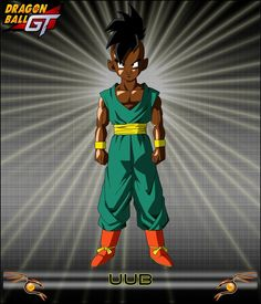 DBGT-Uub- the first black character on the dragon ball generation. You know other than popo. Uub is straight from Africa!! Lol