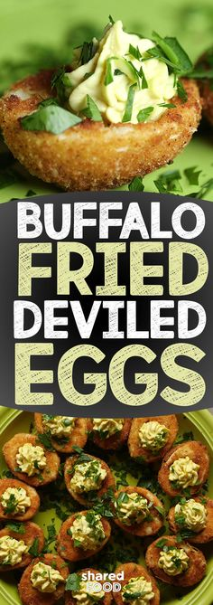 These eggs are crispy, creamy and chalk filled with buffalo flavor! After frying your whites you'll think why have I never done this before? It gives these delicious morsels an unbelievable texture. Birthday Appetizers, Party Appetizers, Deep Fried Deviled Eggs, Fried Eggs, Buffalo Fries, Buffalo Chicken, Pickled Eggs, Pickled Deviled Eggs Recipe, Stuffed Hot Peppers
