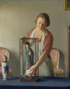 William McGregor Paxton - The Figurine, 1921