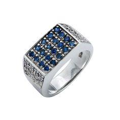 10 mẫu nhẫn bạc nam mặt đá xanh đẹp nhất