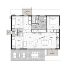 Contemporary House Plans, Small House Plans, Interior Architecture, My House, Sweet Home, Floor Plans, Cottage, House Design, How To Plan