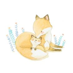 So darling! #foxes #art